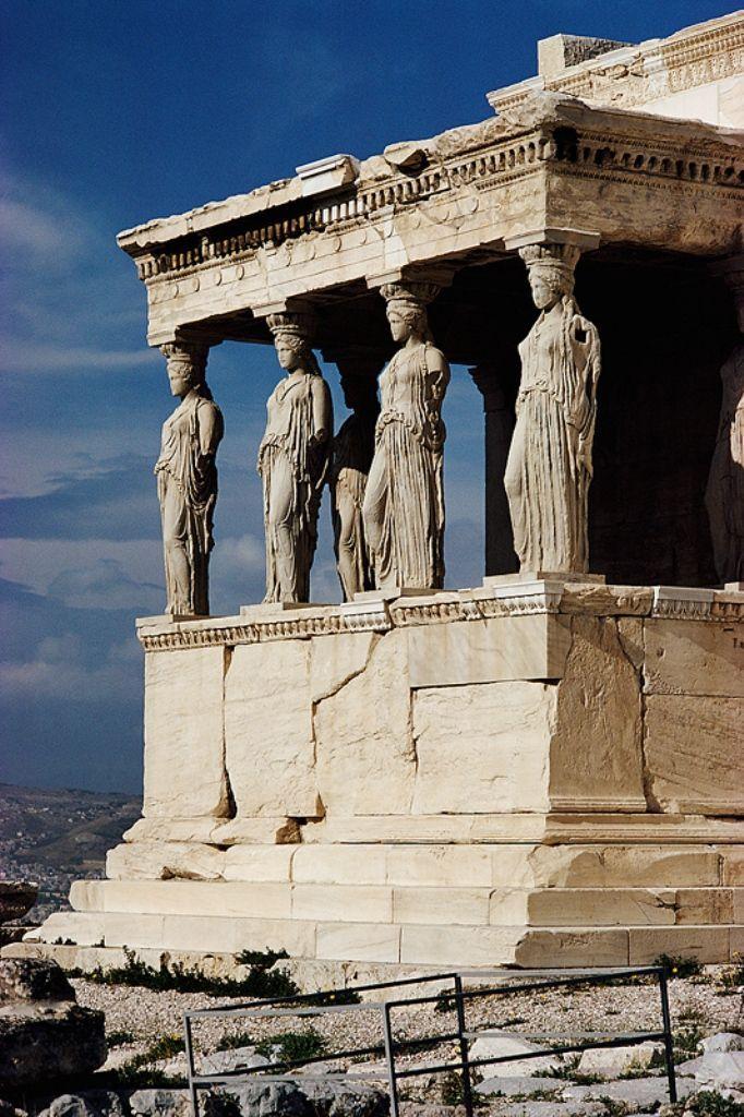 Pórtico de las Cariátides, Atenas.