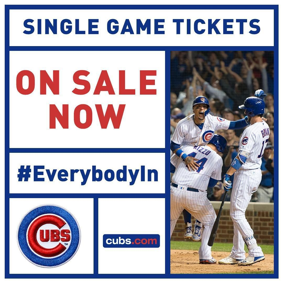Game on Secure your 2018 Cubs tickets right now! Cubs
