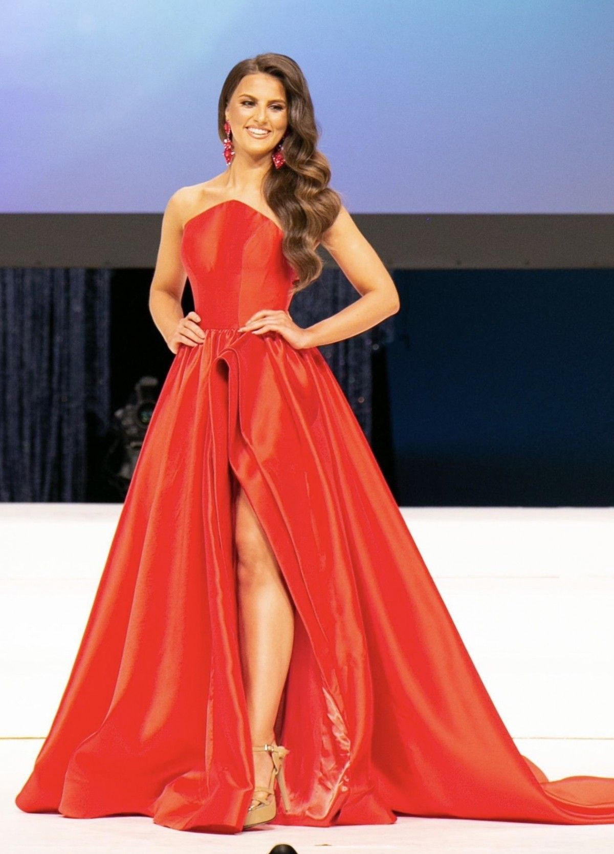Pin on Red Pageant Gowns