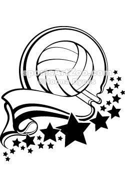 Sports Art Zoo Volleyball Ball With Pennant Stars Design Volleyball Sportsartzoo Volleyball Designs Soccer Banner Sports Art