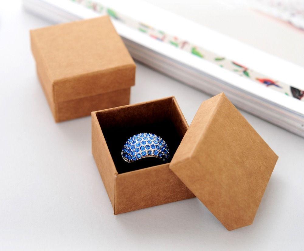 Wonderbaar custom sieraden doos sieraden groothandel spot kraftpapier WA-64