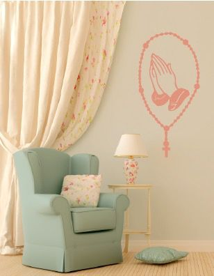 Catholic Rosary Wall Decal Wall Decals Wall Design Wall