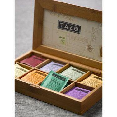 Tazo Wooden Tea Chest   Teas