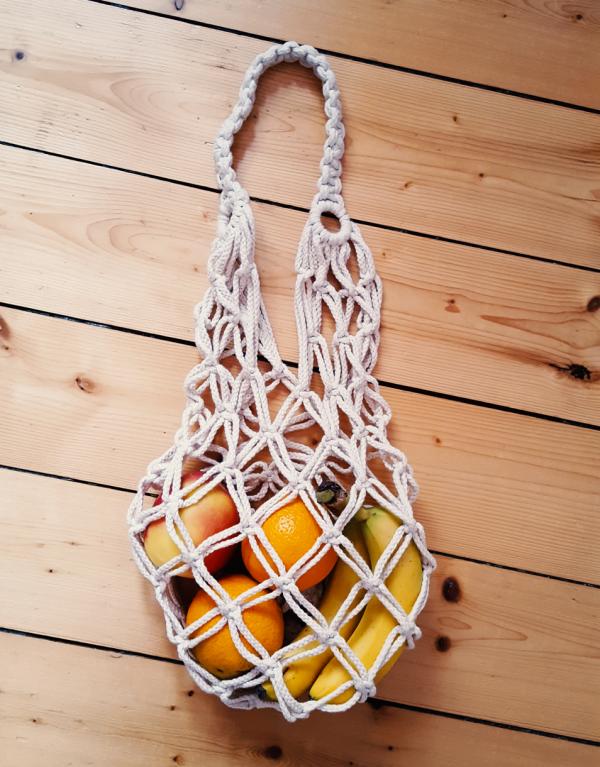 Makramee Einkaufstasche - leicht selbstgemacht