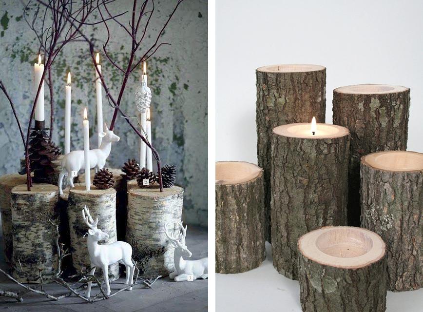 La fabrique d co diy id es d co avec des souches des b ches ou du bois flott wedding - Fendeur de buche fait maison ...