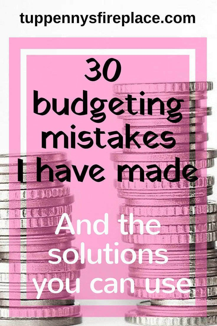 One Stop Solutions In Budget: 30 Budgeting Mistakes I Have Made