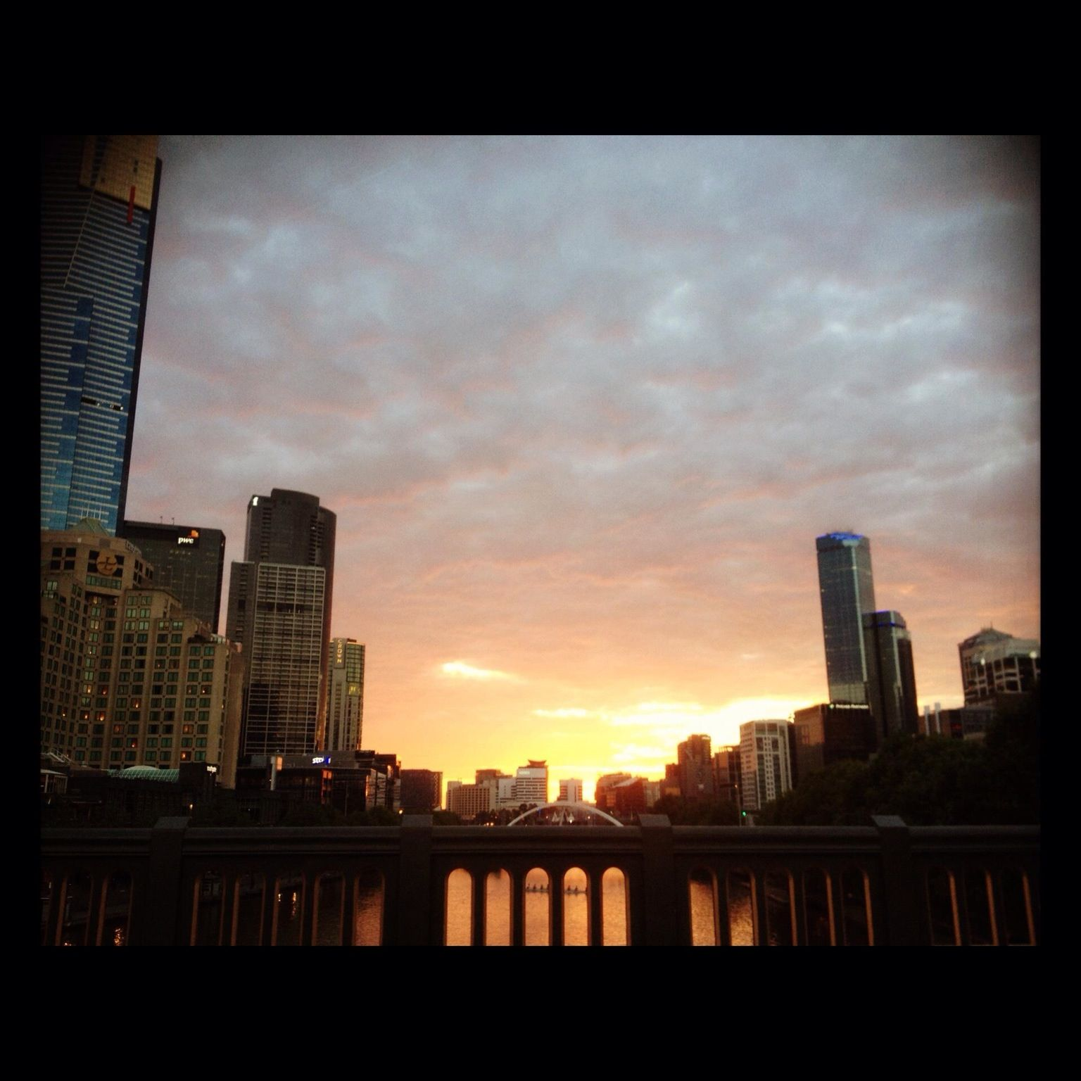 Sunset over Southbank