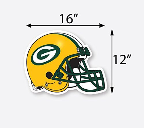 16 green bay packers vinyl decal sticker for cornhole car truck for product info