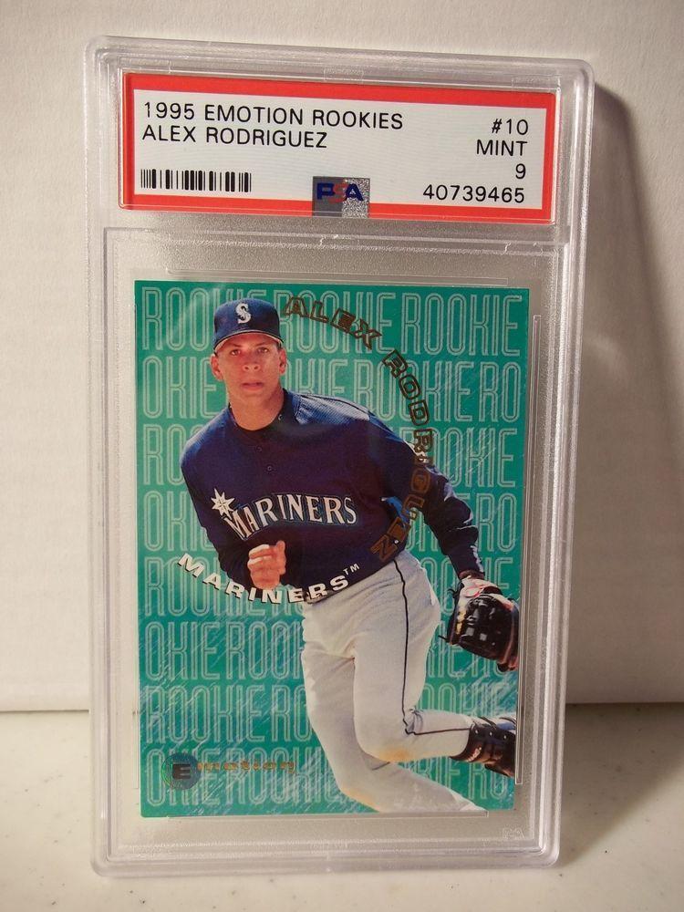 1995 Fleer Emotion Alex Rodriguez Rookie Psa Mint 9 Baseball