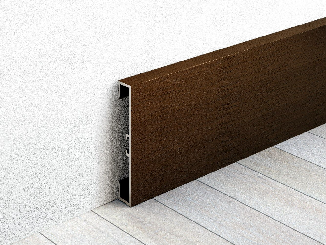 Aluminium Skirting Board With Wood Effect Metal Line By Profilpas Wood Baseboard Skirting Boards Skirting