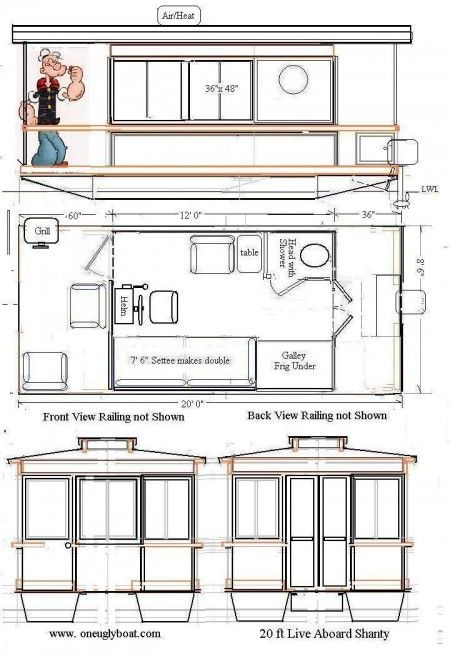 Tiny Floating Home Archives Tiny House Blog Shanty Boat Boat Plans Pontoon Houseboat