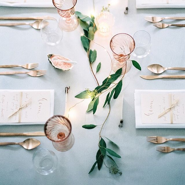 Wedding Ideas With A Difference: The Simplicity Of This Table Setting Is The Beauty... The