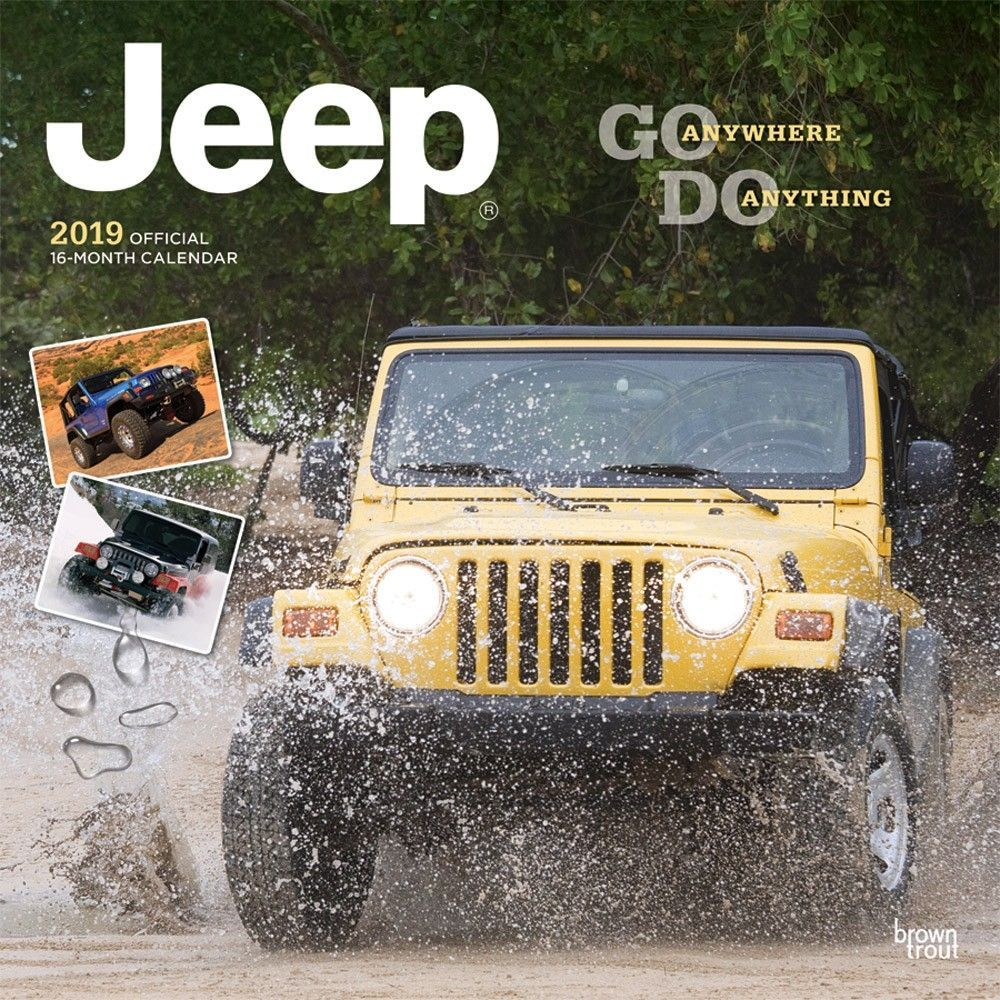 Jeep 2019 12 X 12 Inch Monthly Square Wall Calendar Offroad Motor