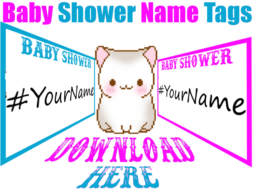 printable baby shower name tags print my baby shower