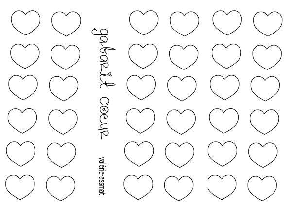 Gabarit petit coeur copie scrap carte amour pinterest - Image de coeur a colorier ...