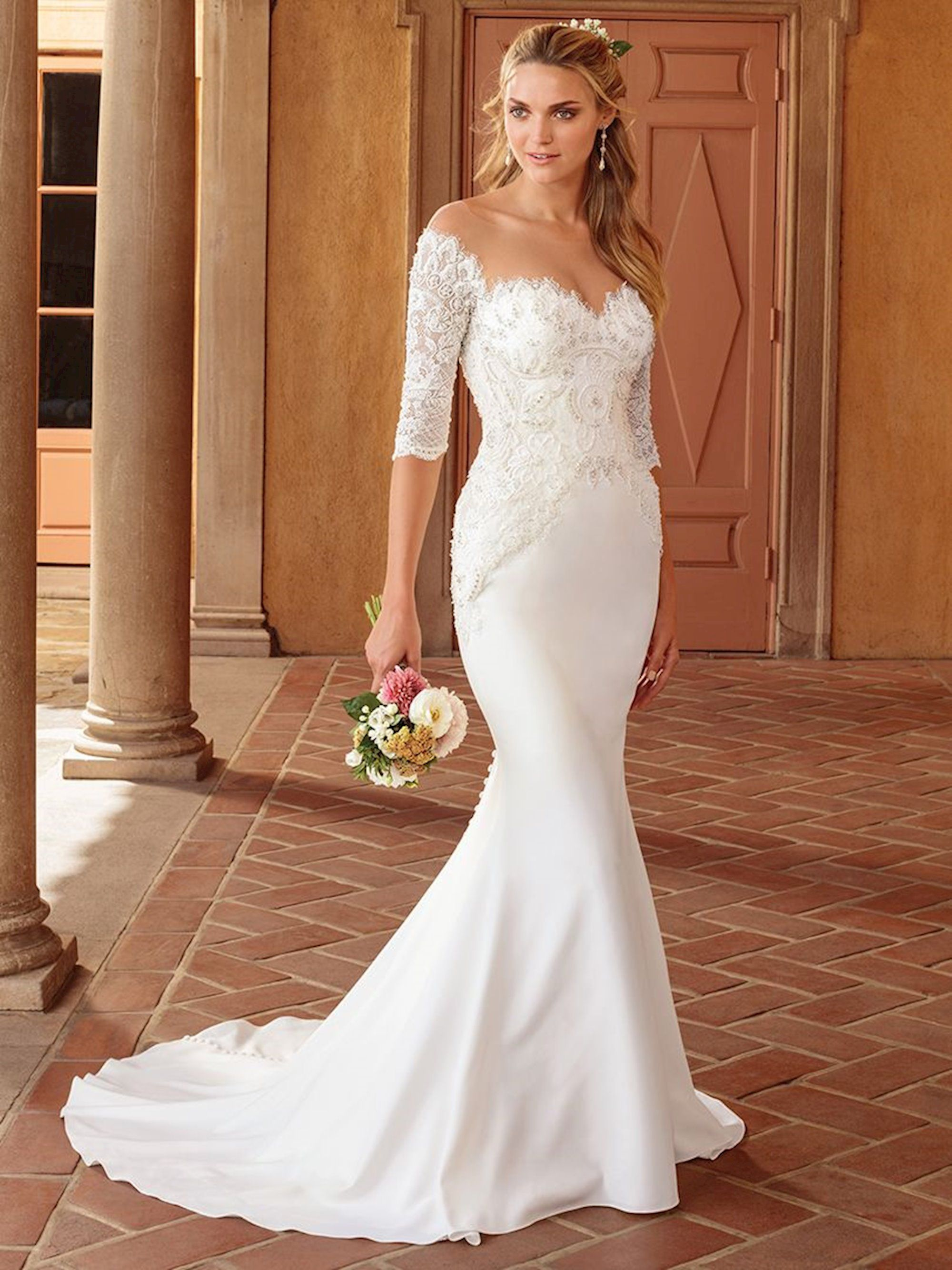 This glam fit and flare wedding dress by Casablanca Bridal