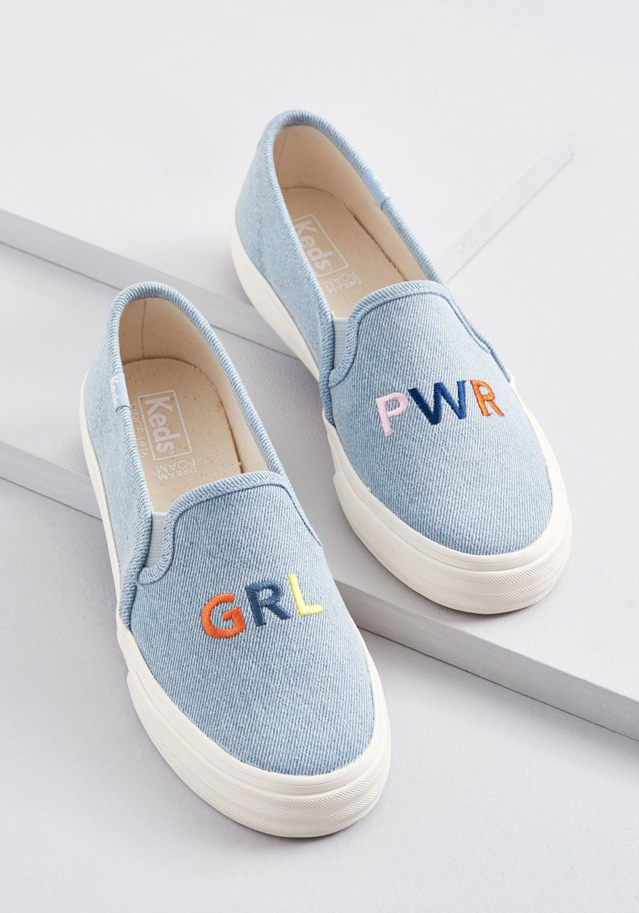 Grl Pwr Embroidered Slip On Sneaker Trending Womens Shoes Slip On Sneaker Slip On