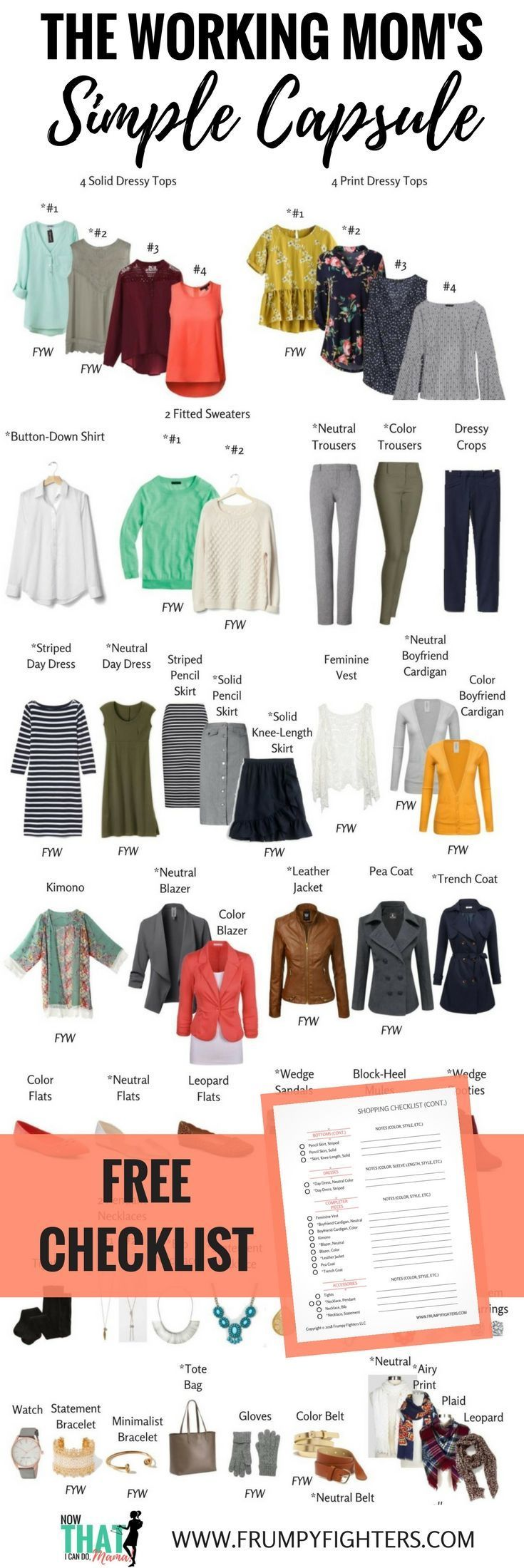 Business Capsule Wardrobe Plan for Moms (Free Style Guide 2