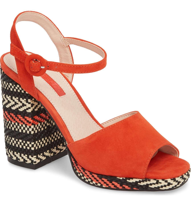 51f3bda6e42 Main Image - Topshop Laura Woven Block Heel Sandal (Women ...