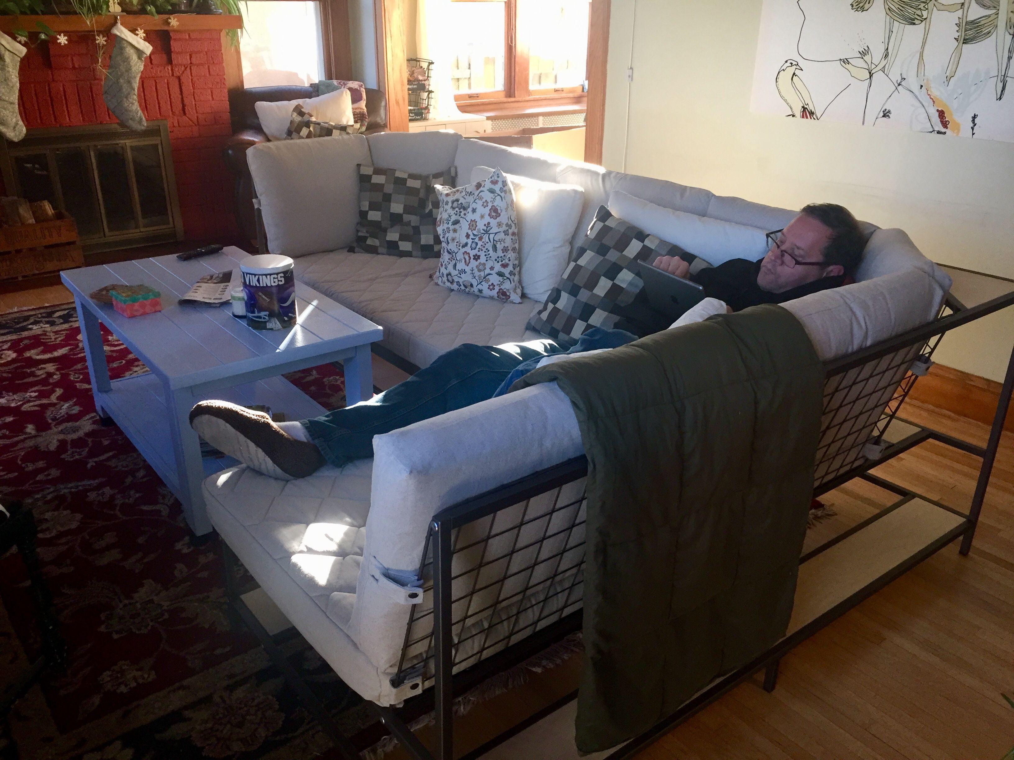 Ikea Ekebol Sectional X 2 Living Room Long Narrow In