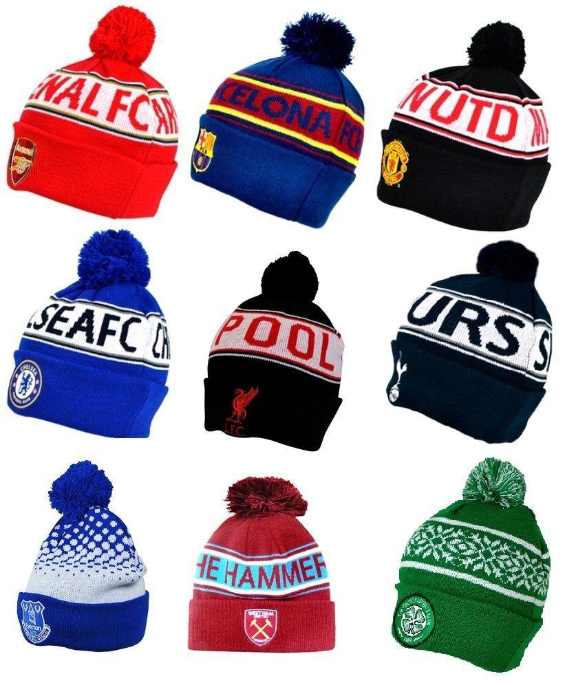3c0563b696f Official football club  snowflake text  bobble cuff hat cap beanie  bronx  gift xm