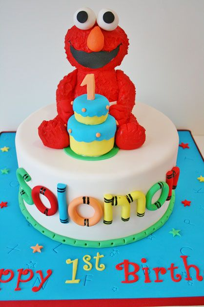 First Birthday Cakes NJ Elmo Custom Cakes 2 Kids Birthday