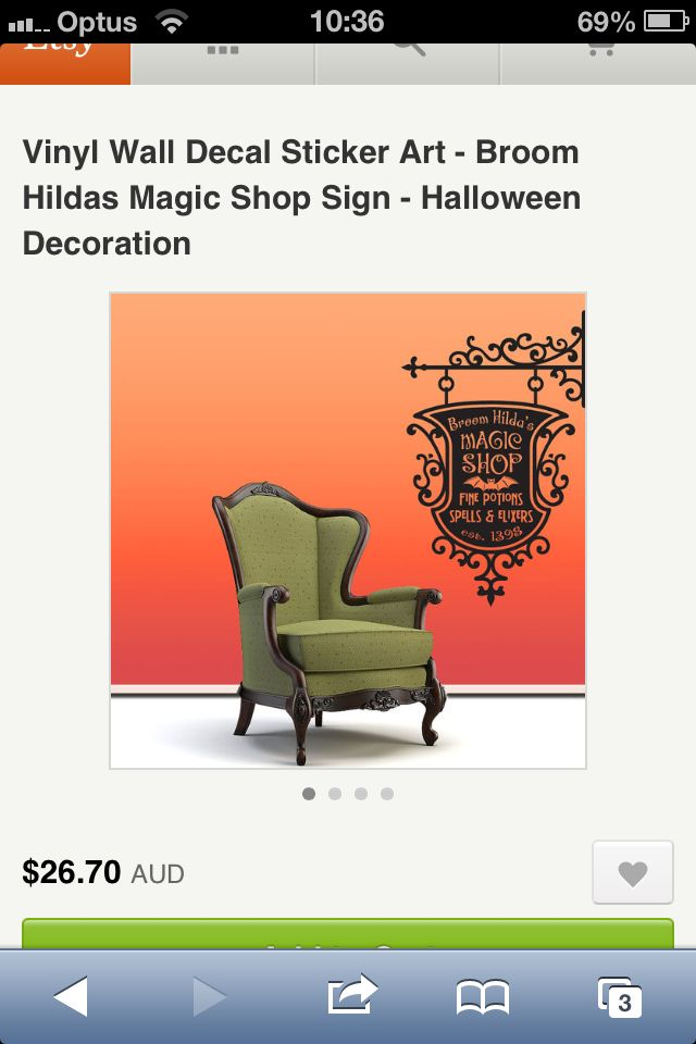 Halloween wall decal Etsy