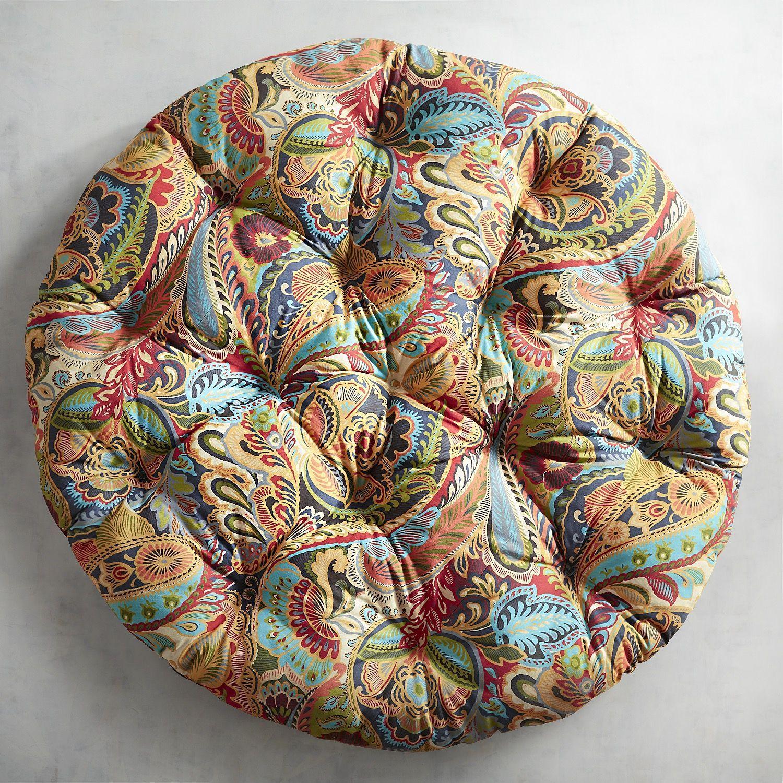 papasan cushion in vibrant paisley papasan cushion paisley and