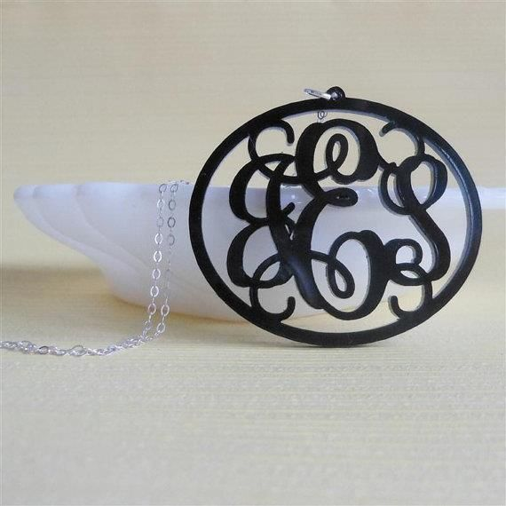 Oval monogram necklace - only at Dear Prudence!