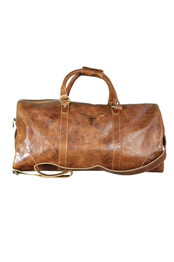 ae2aa5733 Time to cash-in those flying miles! Travel in style with this Longhorn  Westbridge Duffel bag! Made from hand embossed full grain leather. Order  today!