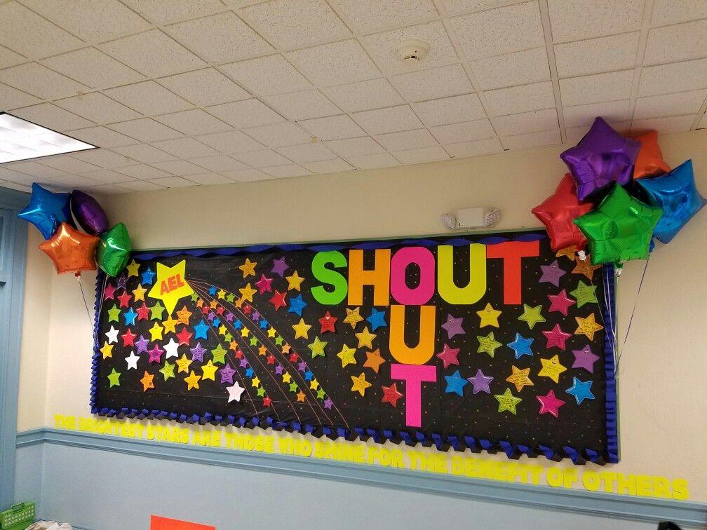 Teacher Appreciation Shout Out board. | bulletin board ...