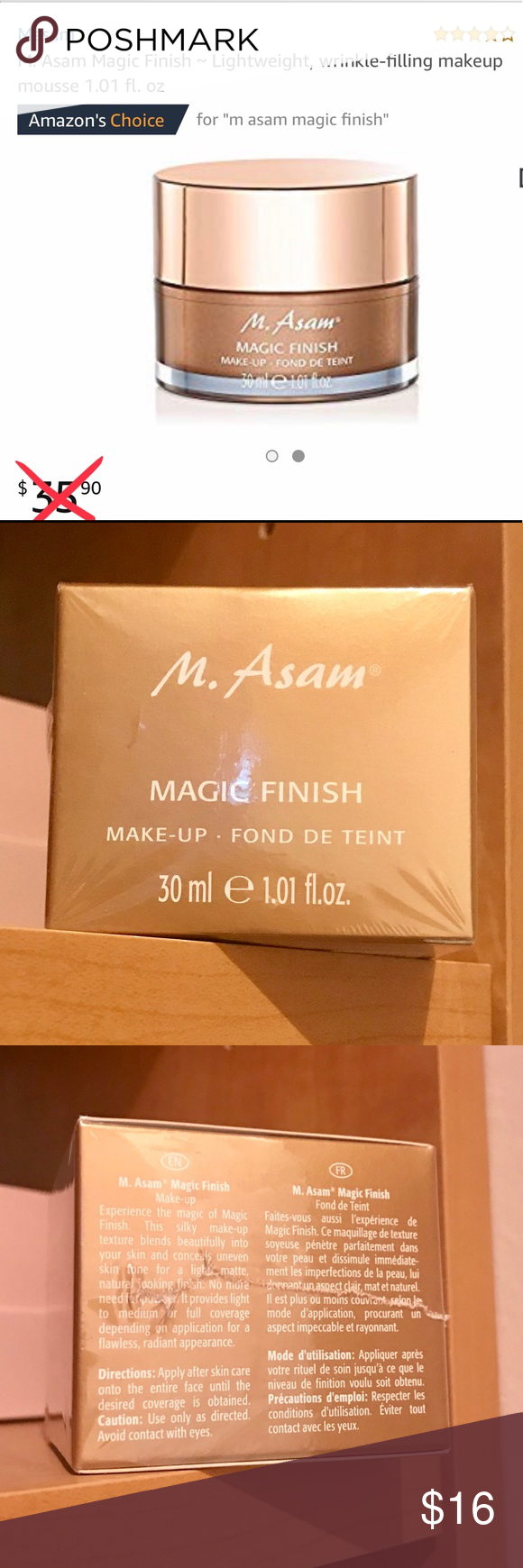Magic Finish Makeup Best Seller Magic Finish Makeup By M Asam Lightweight Full Coverage Silky Smooth Texture Covers All Those Im Makeup Foundation Skin Brightening Skin Care Treatments