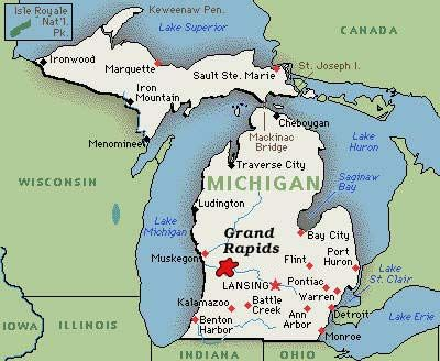 Grand Rapids Mi Map Pin by Alicia Walker on Places I've lived | Map of michigan, State