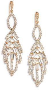 ABS by Allen Schwartz Jewelry Mixers Leaf Chandelier Earrings/Goldtone