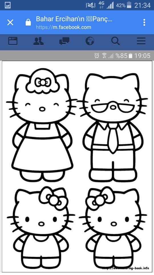 Heves Adlı Kullanıcının Panç Nakisi Panosundaki Pin Hello Kitty