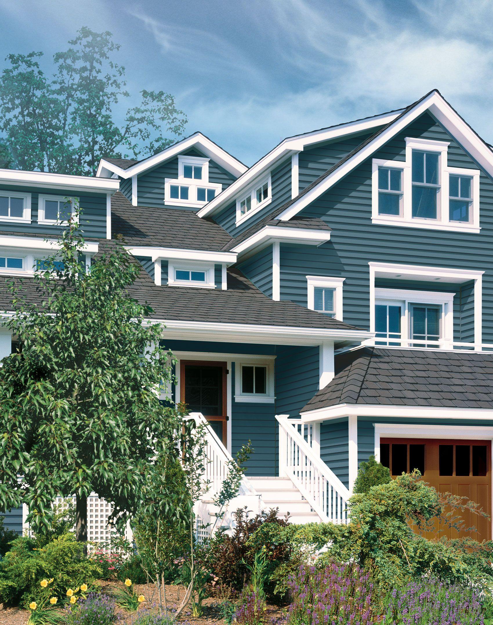 Certainteed Com House Exterior House Siding Blue Siding