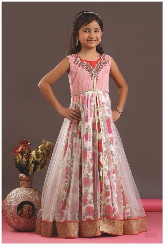 8e0794f3558 Kids girls Indian Pakistani Asian Ethnic by Varshinicollections ...