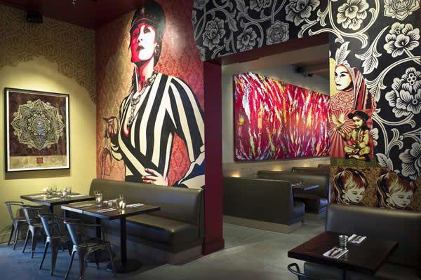 Mural At Wynwood Kitchen And Bar Kitchen Bar Design Wynwood Bar Design