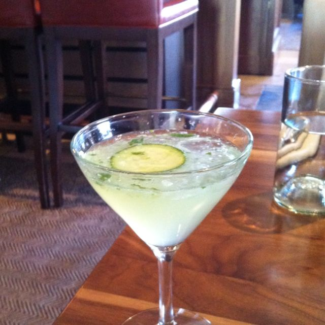 Cucumber martini at the st. Regis deer valley