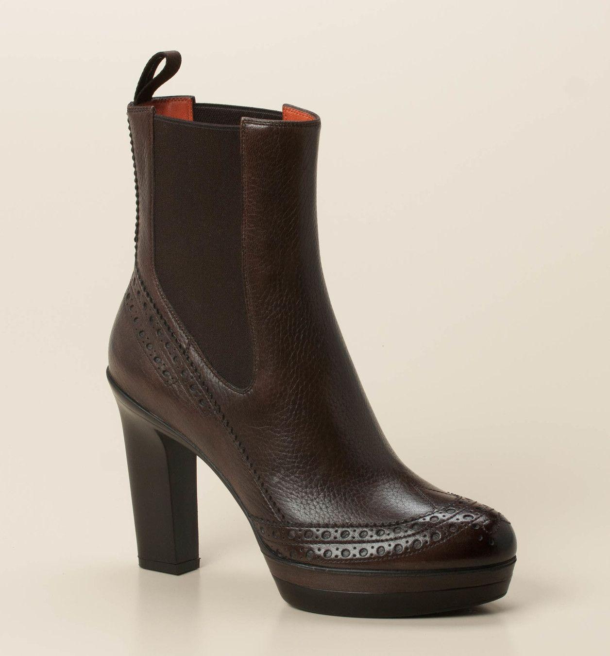 Santoni Damen Stiefelette in dunkelbraun kaufen   Schuhe