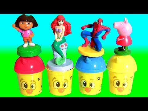 Pig George e Peppa Pig Aprenda Cores com Massinhas Play Doh Clay Buddies  Learn Colors in