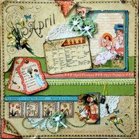 Project Ideas for Graphic 45 - Place in Time Collection - 12 x 12 Double Sided Paper - April Cut-Aparts, gf-4500598