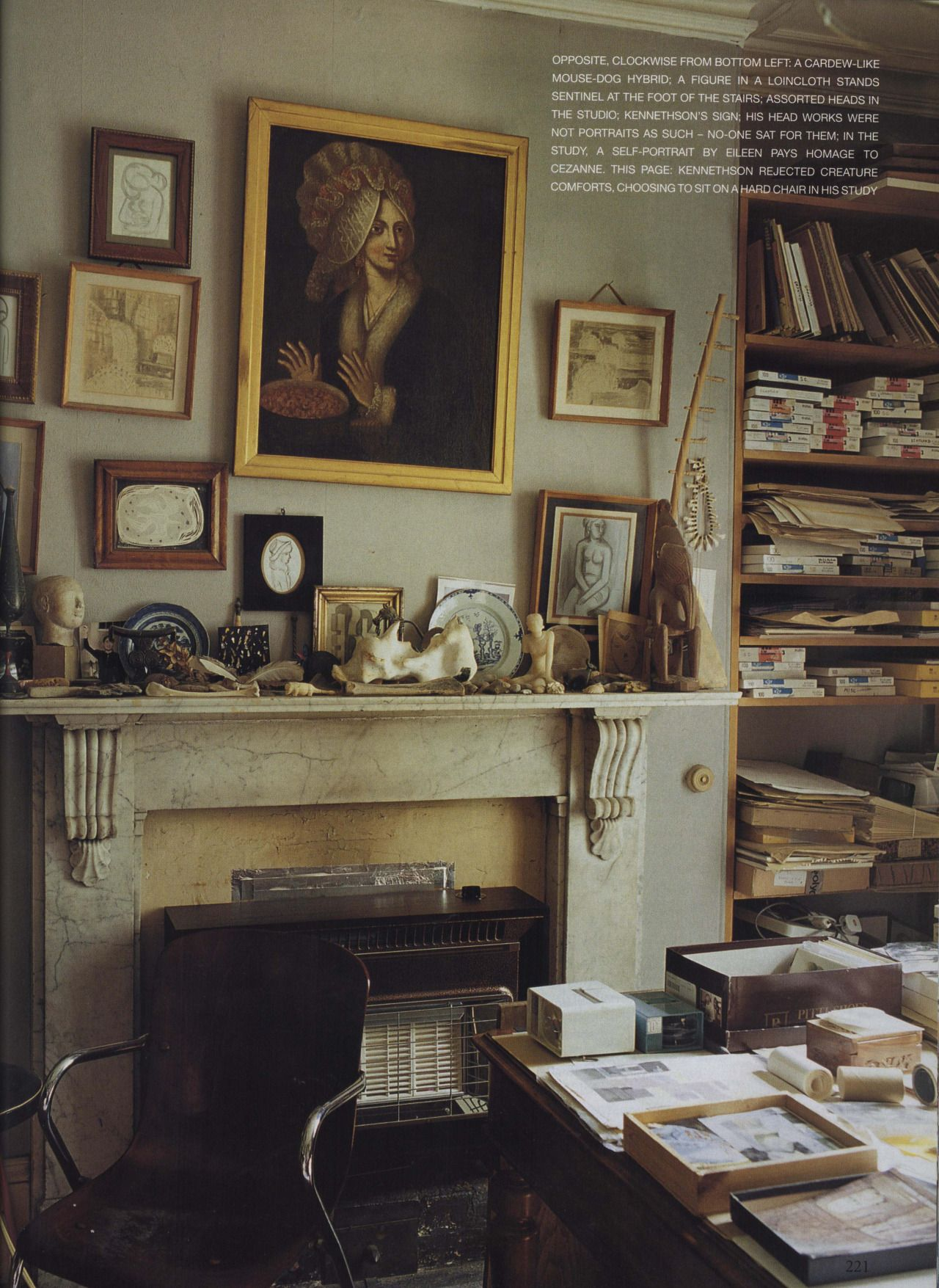 Sculptor George Kennethson\'s Study. The World of Interiors, October ...