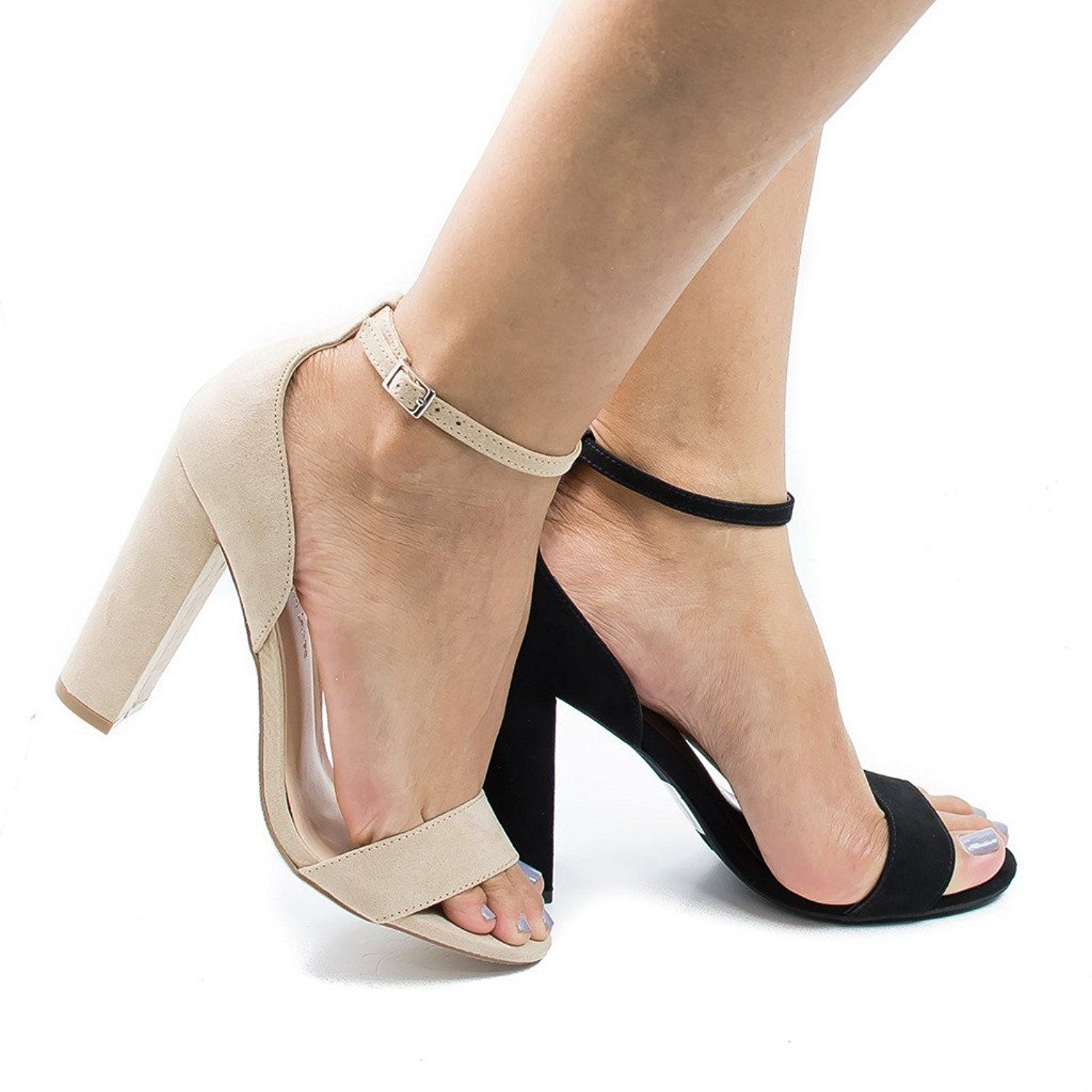 7524116bf68 Morris02 NaturalSued Open Toe Ankle Cuff Chunky Heeled Dress Sandals -5.5