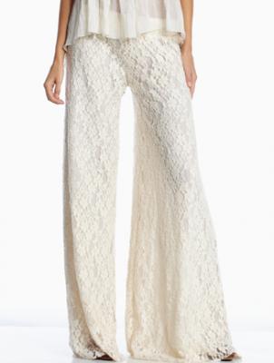 eb84ad1a0f White lace palazzo pant | Summer Fashion | Lace pants, Fashion, Pants