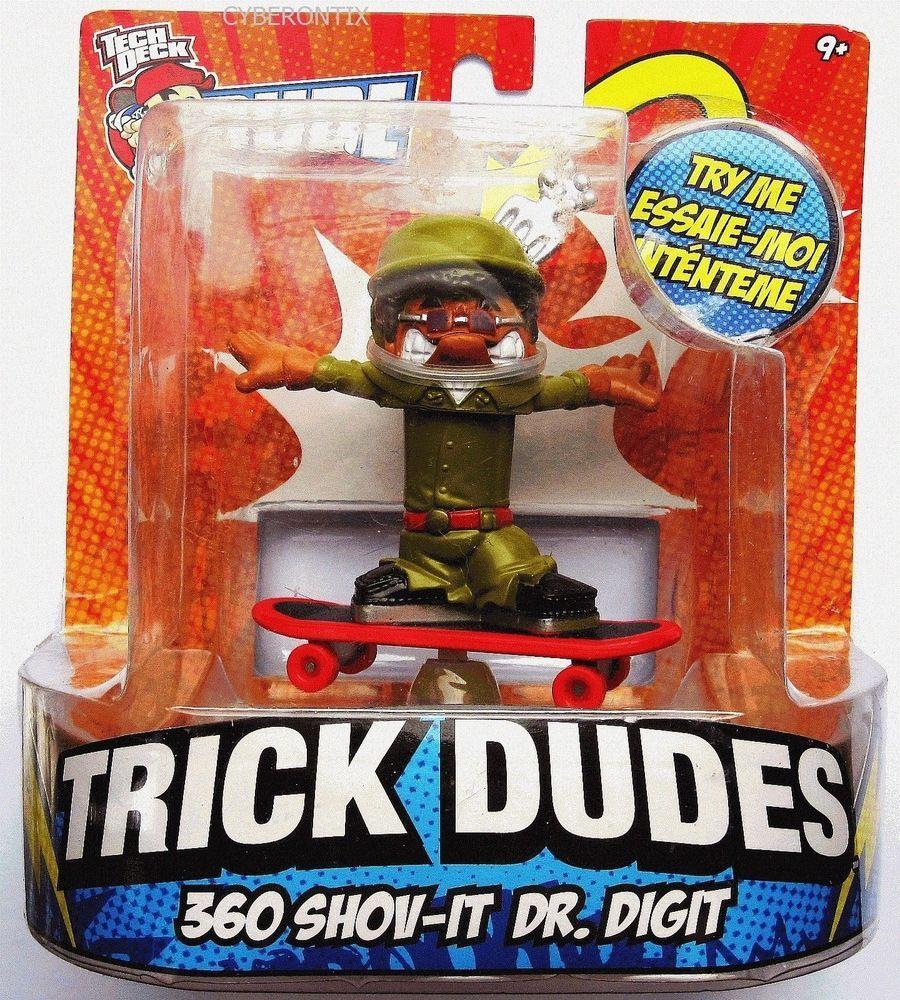 Tech Deck Trick Dudes 360 SHOVIT DR. DIGIT Action Figure