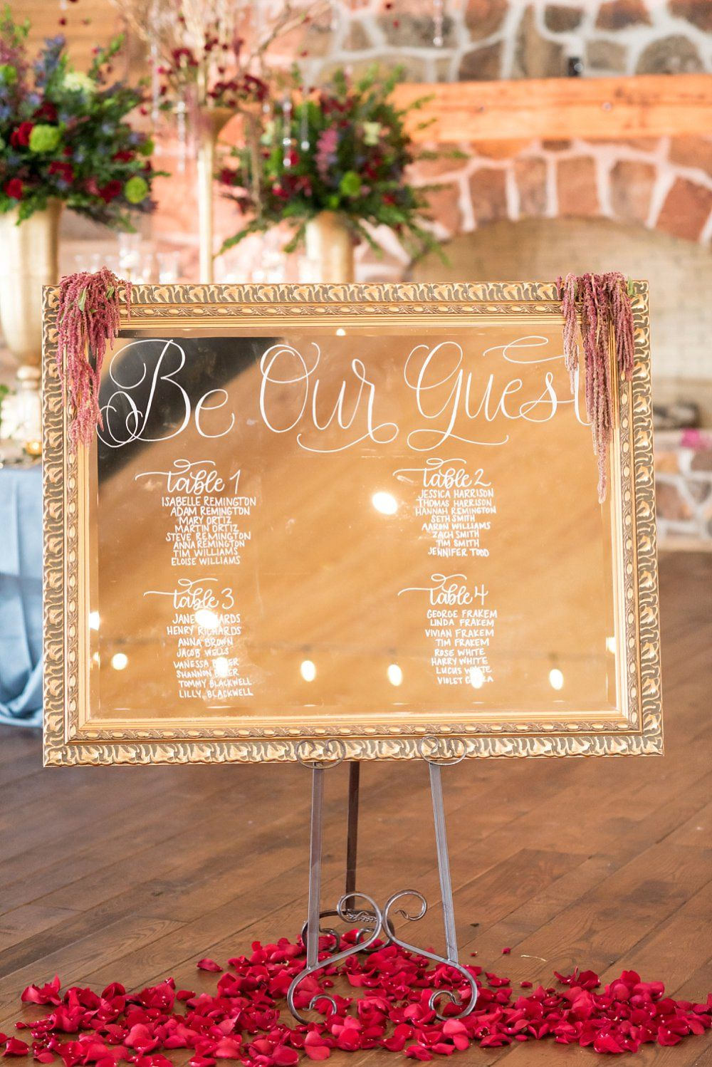 Be Our Guest Mirror Sign | A Beauty and the Beast Wedding Inspiration - A  PRINCESS INSPIRED BLOG | Wedding mirror, Beauty and the beast, Beauty and  the beast theme