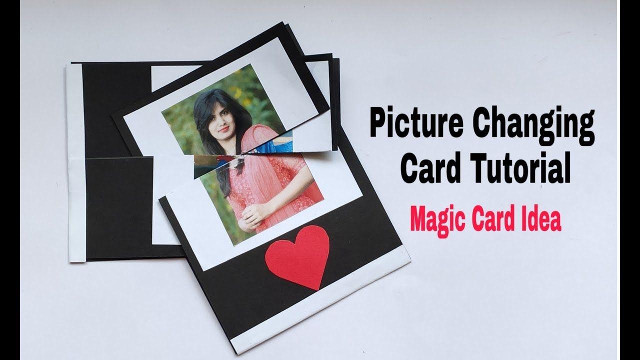 Picture Changing Card Tutorial Diy Magic Card Idea Requested Video Card Tutorial Card Tutorials Card Design Handmade