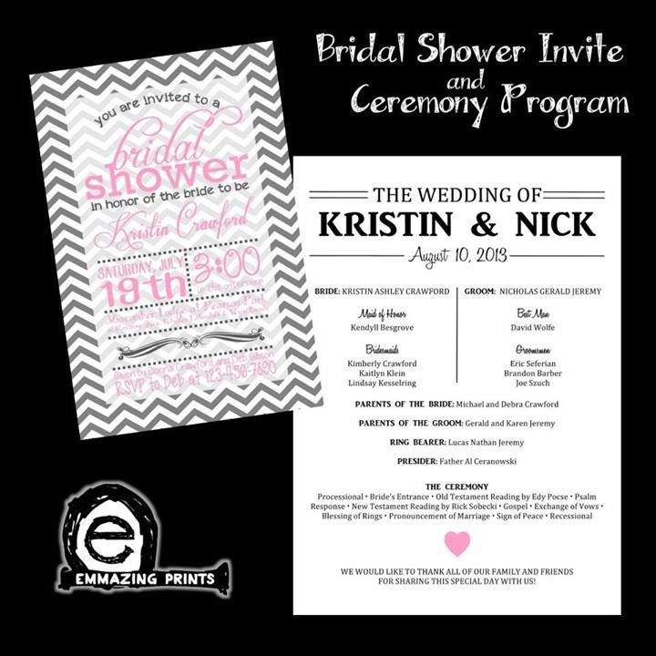 Bridal Shower Invite & Ceremony Program