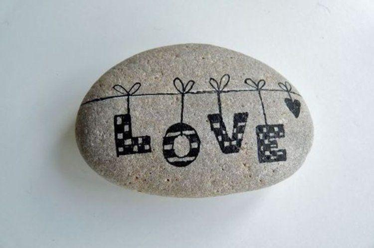 Steine bemalen: 40 Ideen für originelles Basteln mit Steinen #bemaltekieselsteine